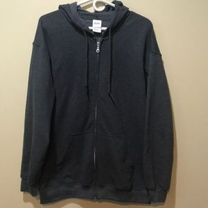 Gildan Zip-up hoodie. Size large